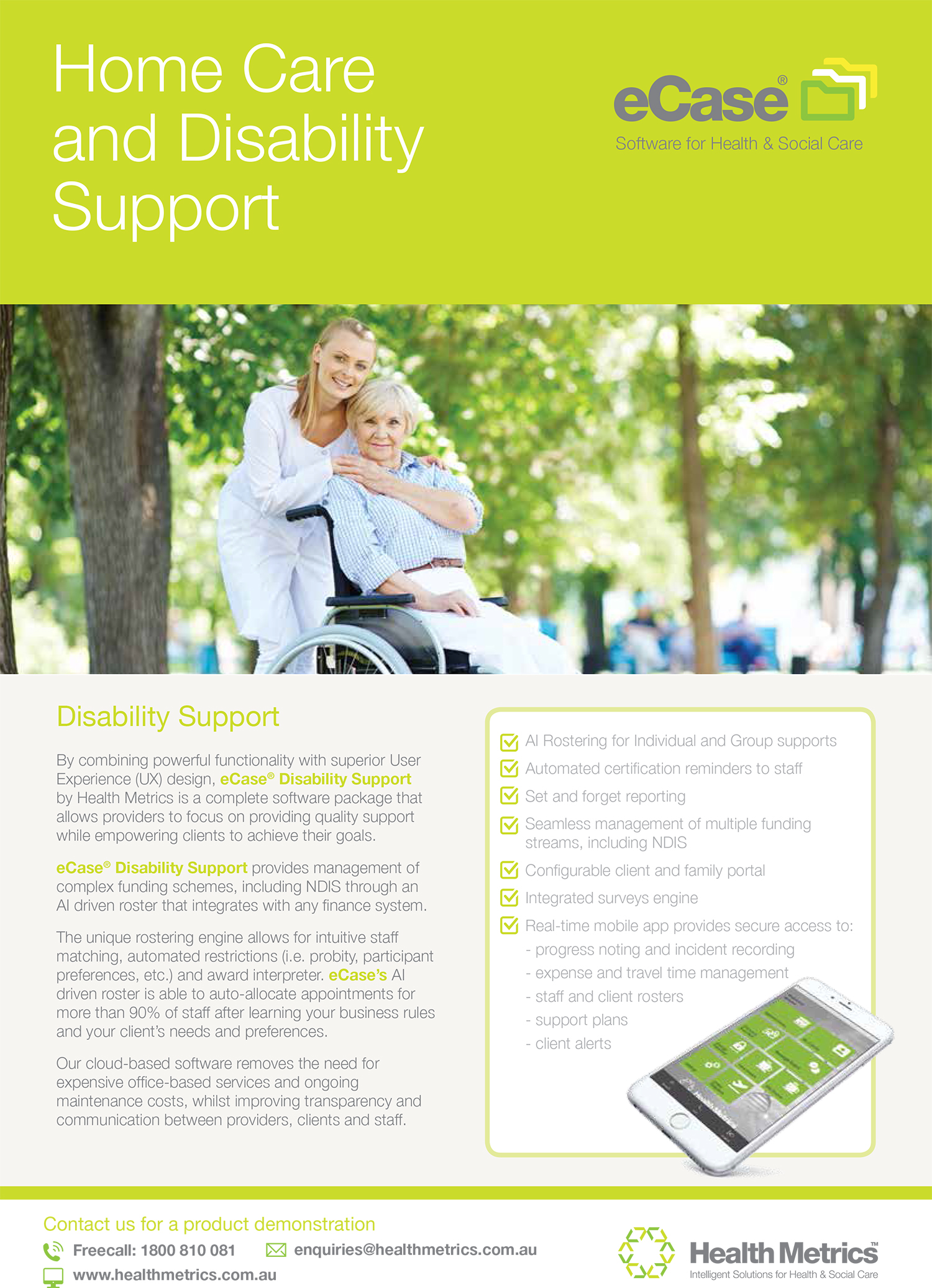 eCase Homecare and Disability flyer_AUS