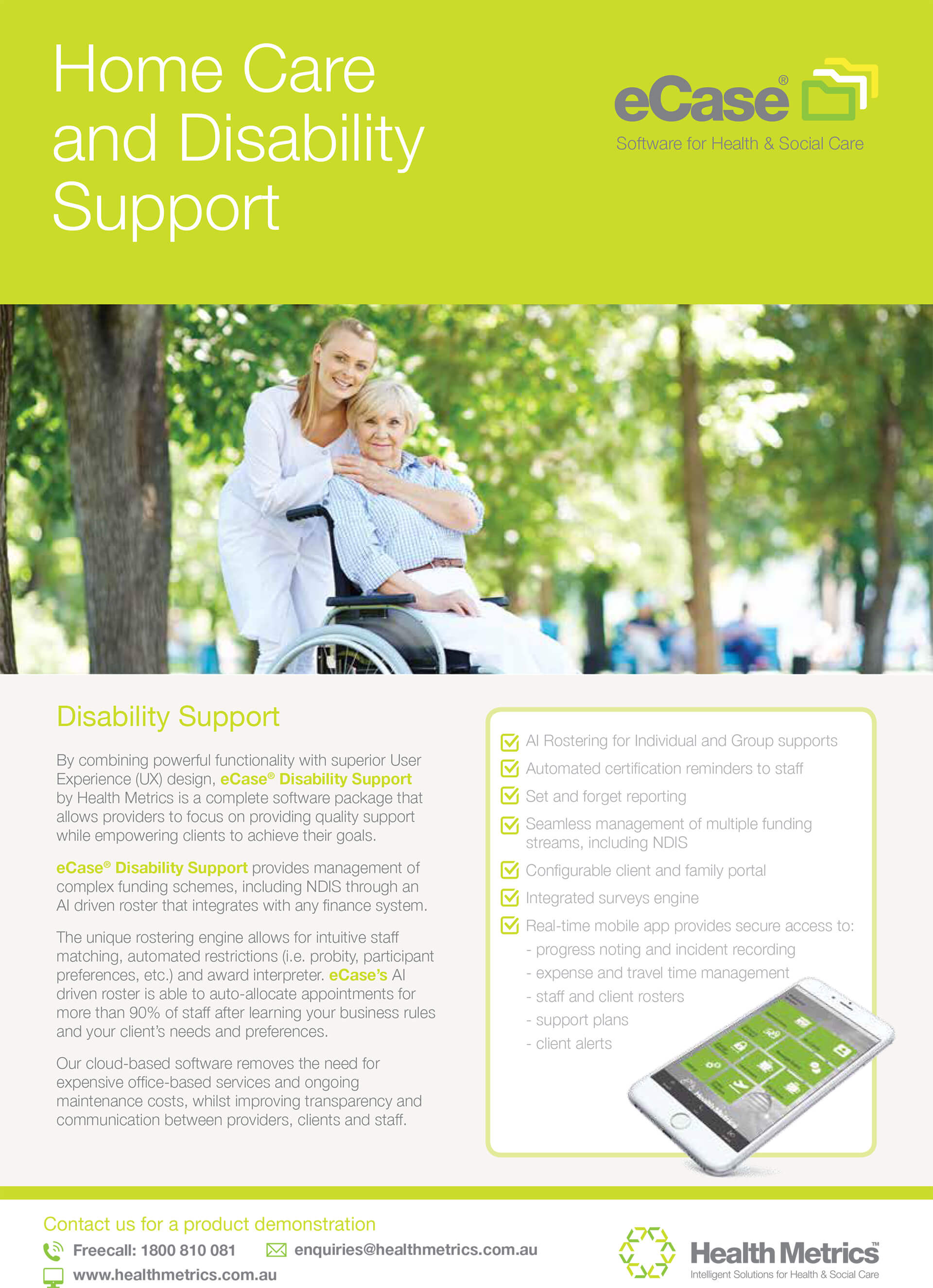 eCase Homecare and Disability flyer_AUS_webV2